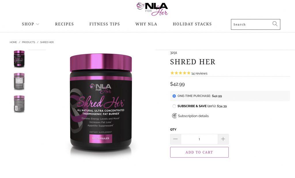 NLA Shred Her Website