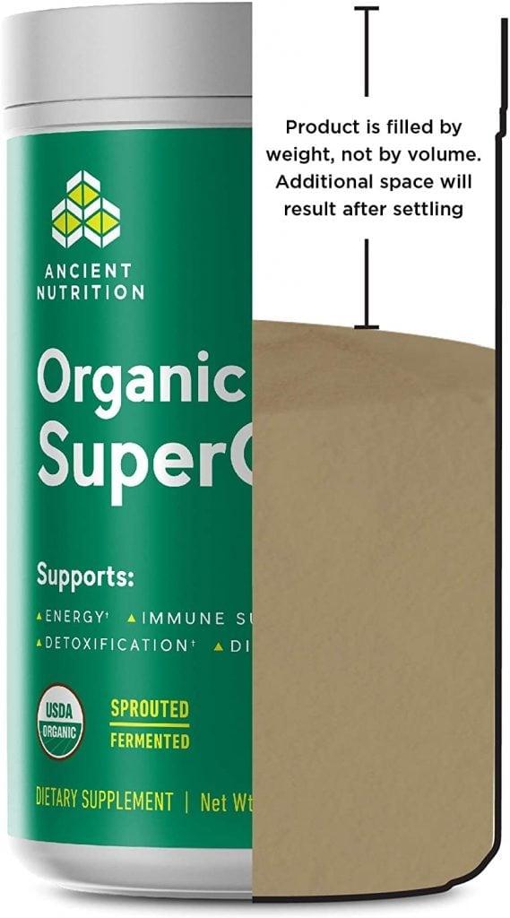Ancient Nutrition Organic SuperGreens Content