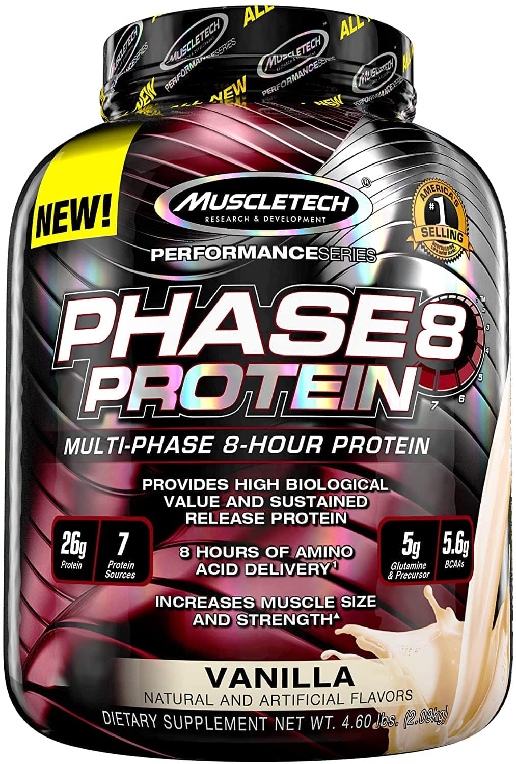 Phase 8 Protein By MuscleTech Vanilla