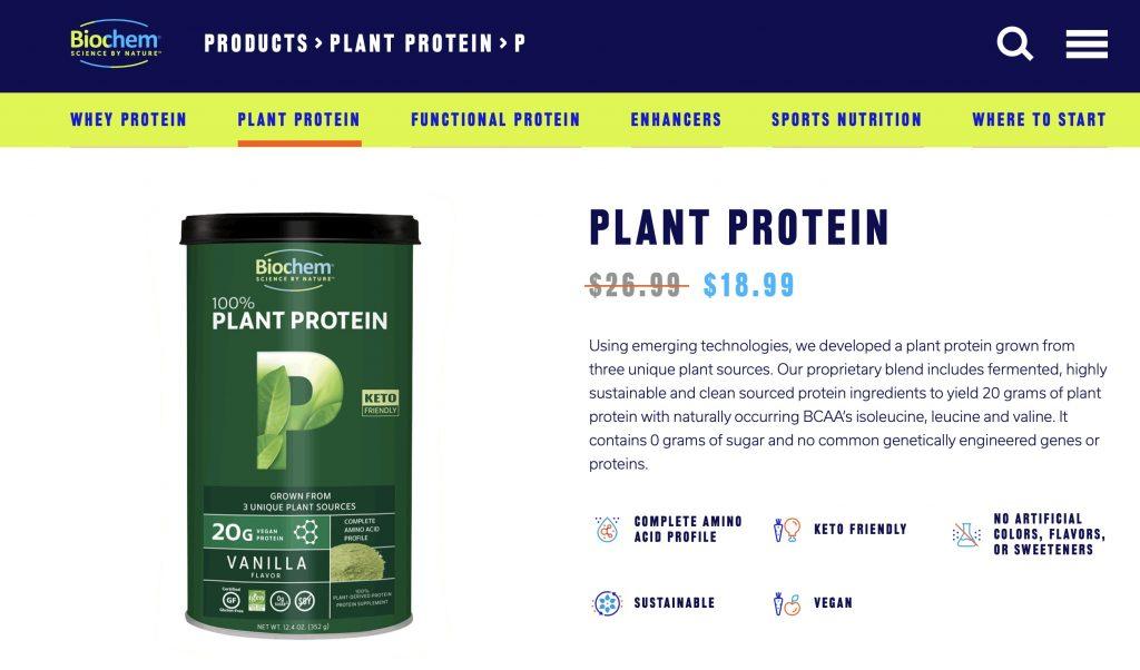 Biochem Plant Protein Website