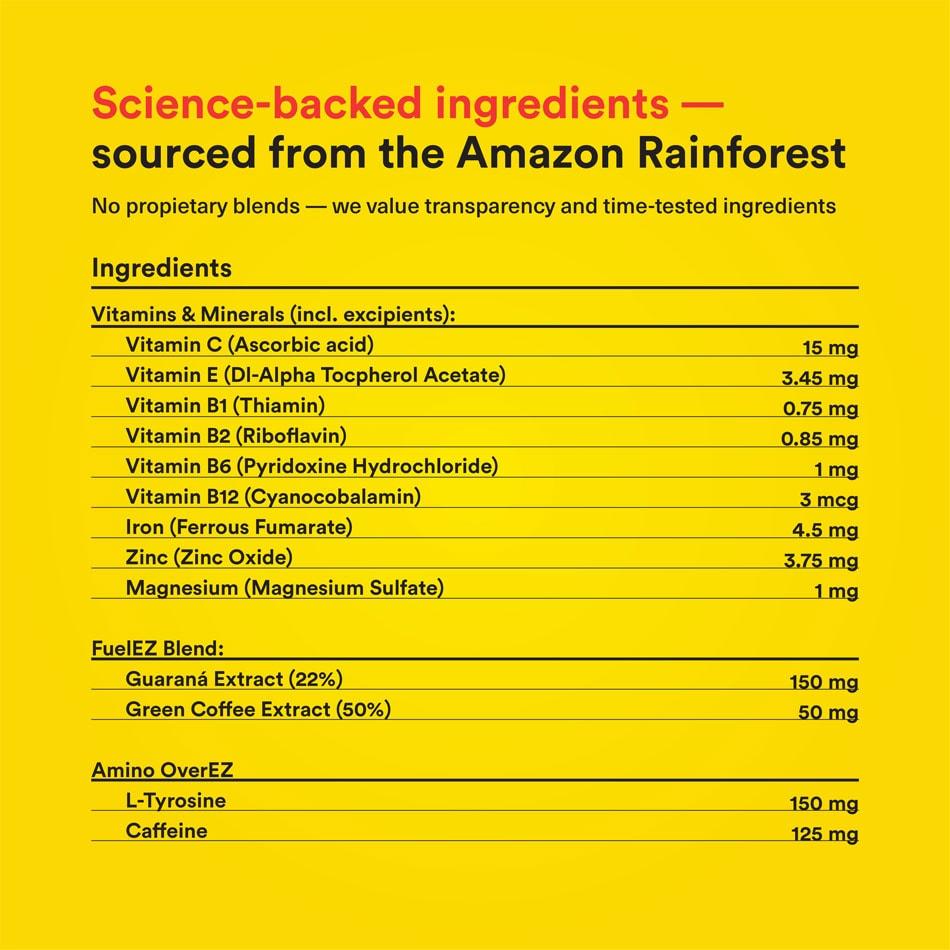 Fuel EZ Supplement Facts