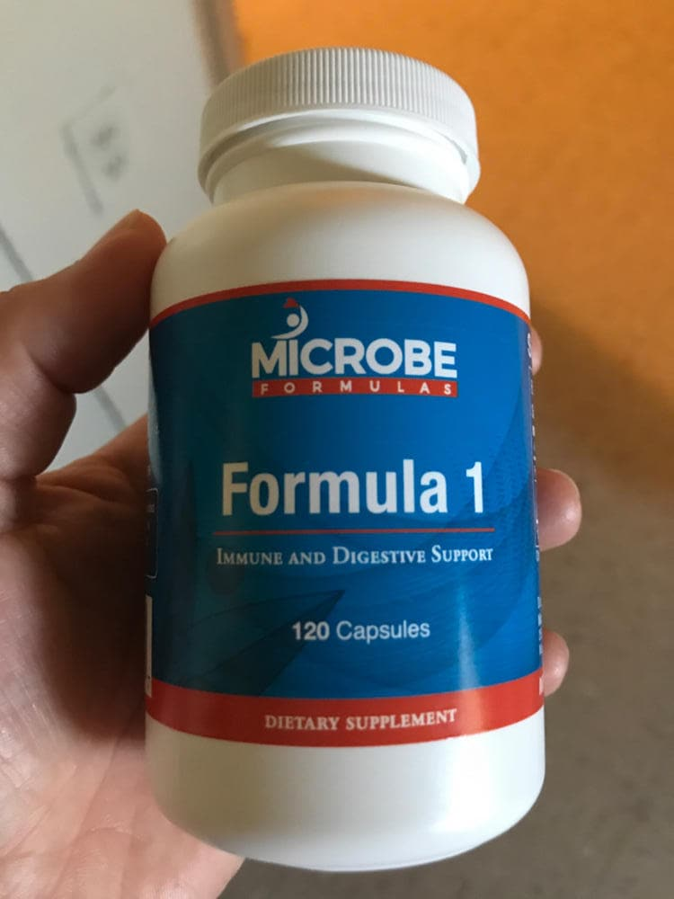 Microbe Formulas Formula 1 Bottle And Capsules