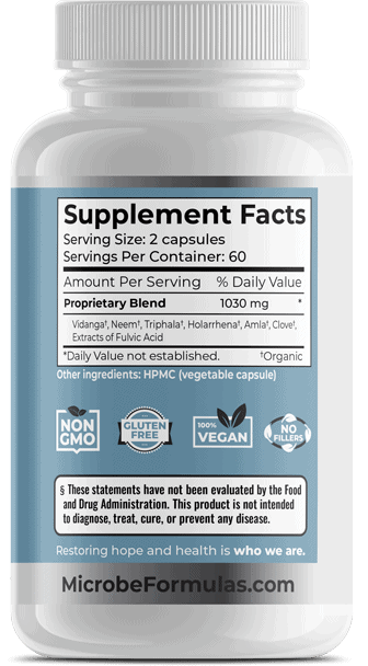 Microbe Formulas Formula 1 Supplement Facts