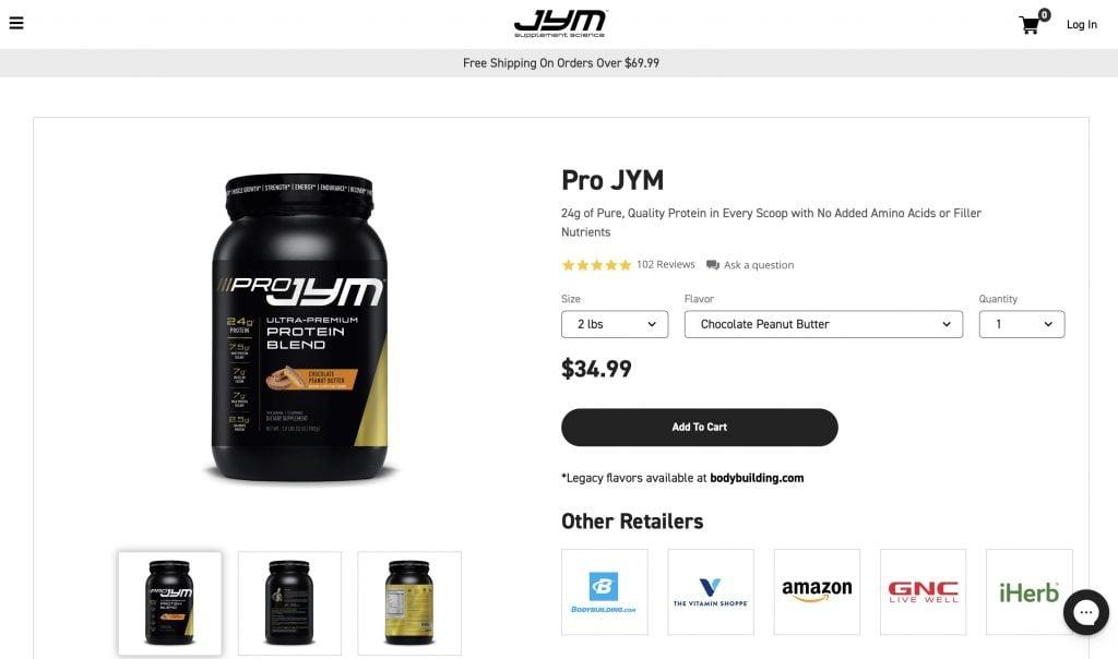 Pro JYM Website