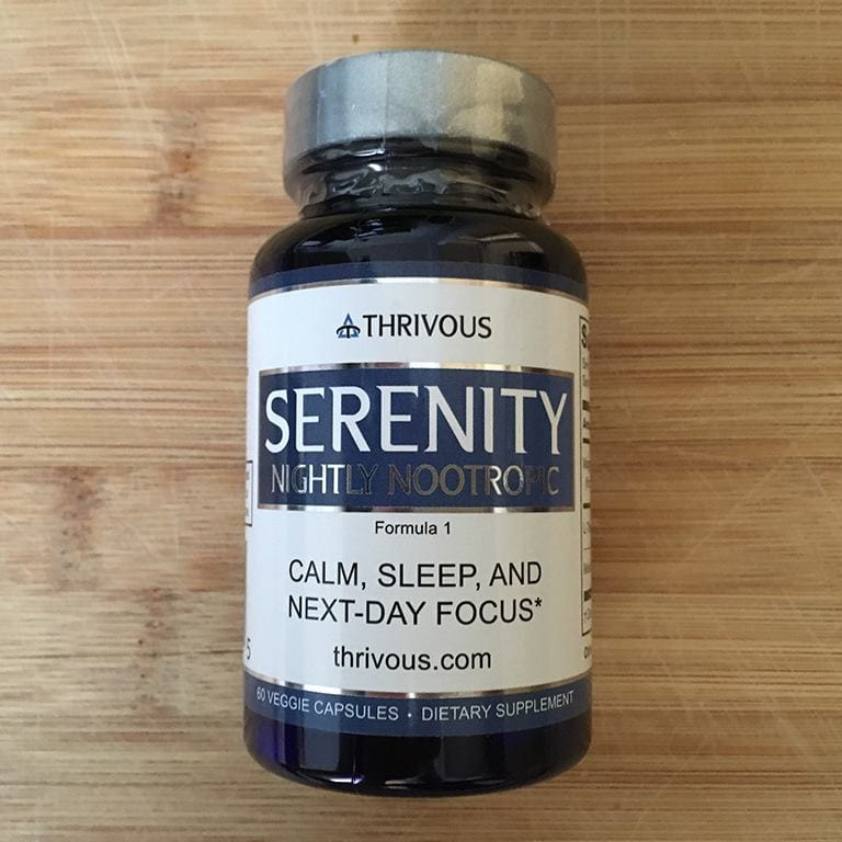Thrivous Serenity Nightly Nootropic Bottle