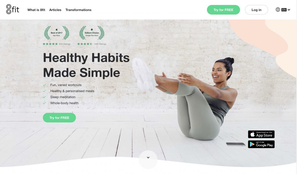 8Fit Website