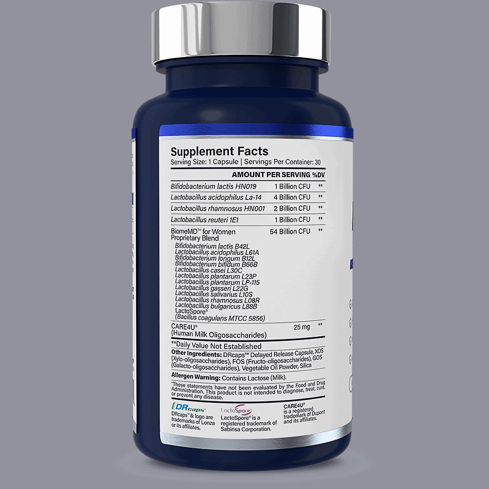 BiomeMD Supplement Facts