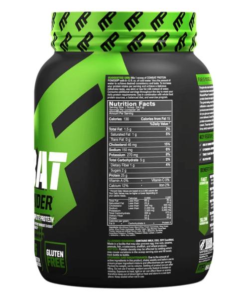 Combat Protein Ingredients