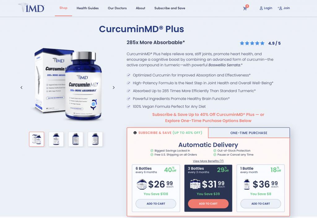 CurcuminMD Plus Website