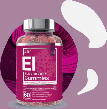 Essential Elements Elderberry Gummies Bottle