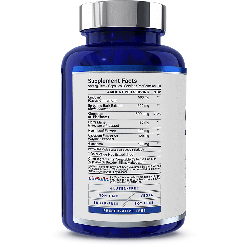 GlucoseMD Supplement Facts