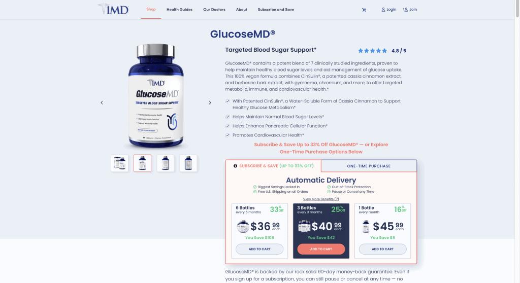 GlucoseMD Website