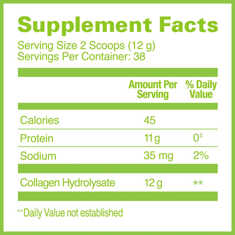 Great Lakes Collagen Hydrolysate Supplement Facts