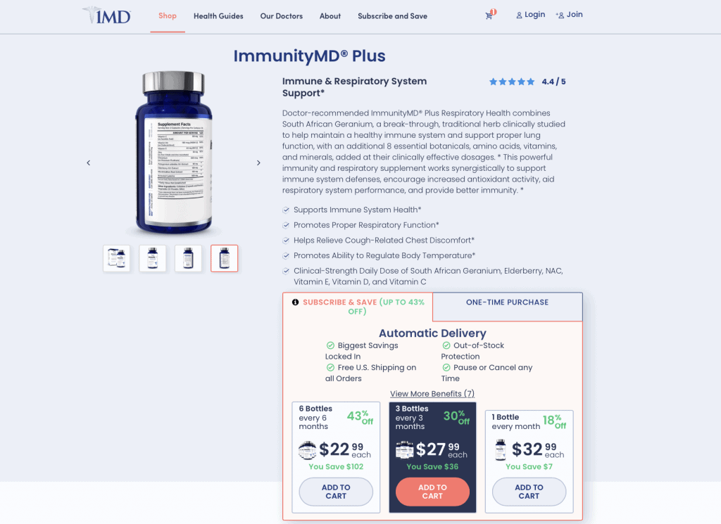 ImmunityMD Plus Website