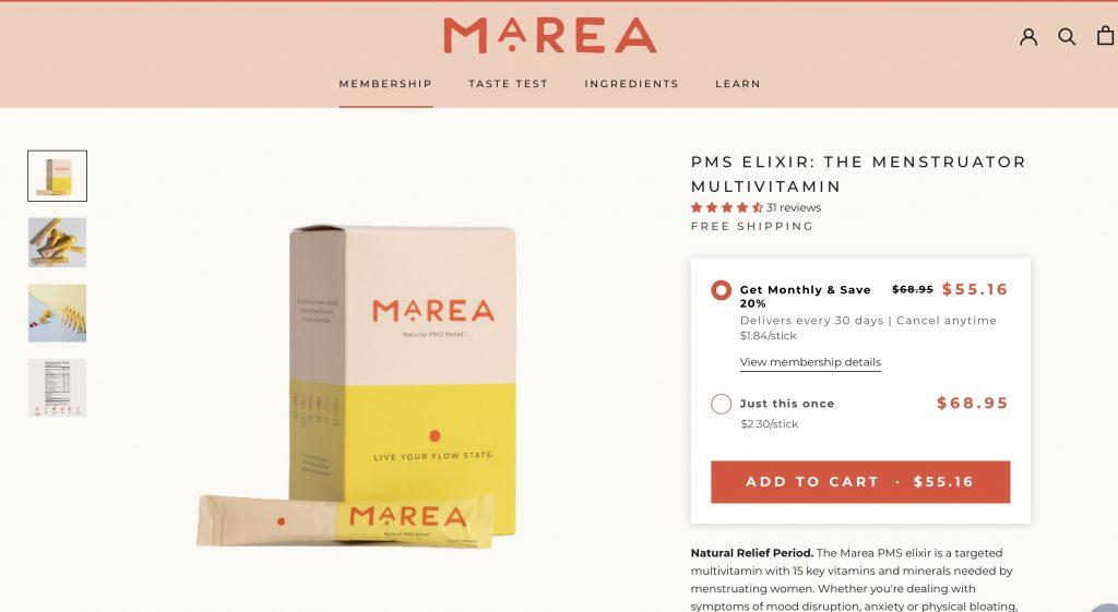 Marea PMS Elixir Website