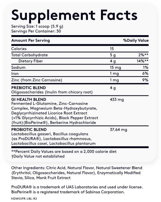 Multi GI-5 Ingredients