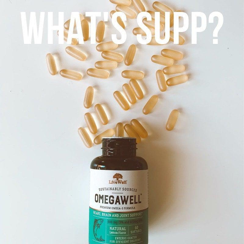 OmegaWell Fish Oil Supplement Pills