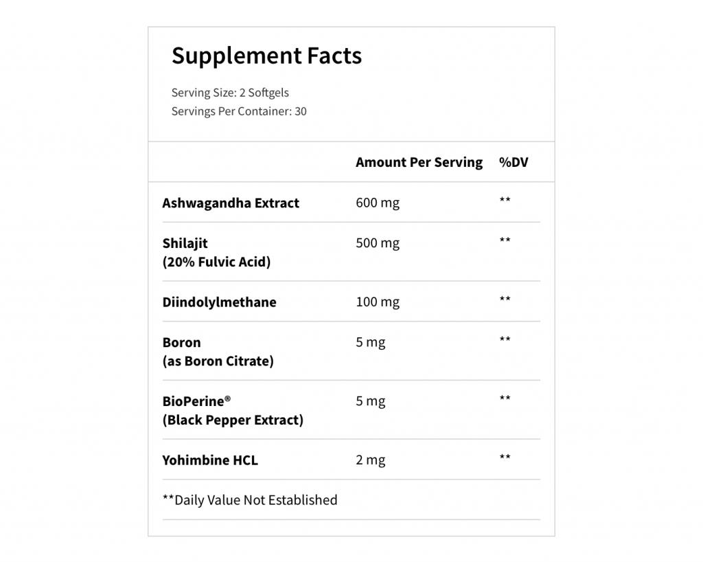 T-hero Supplement Facts