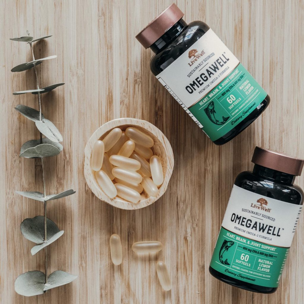 OmegaWell Fish Oil Bottles And Pills