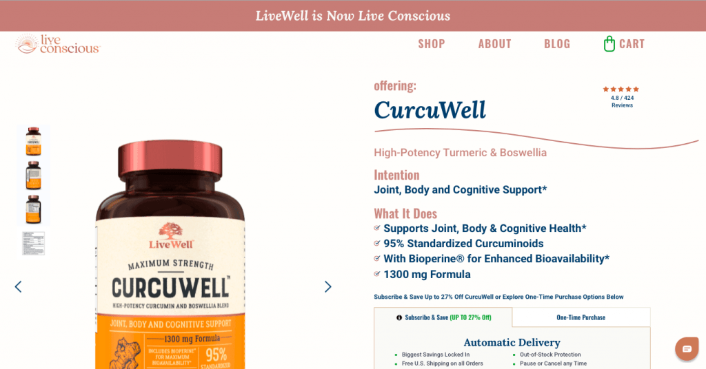 CuruWell Live Conscious Website
