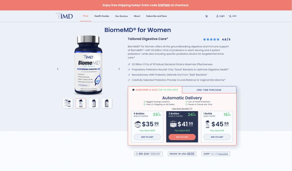 BiomeMD 1MD Website