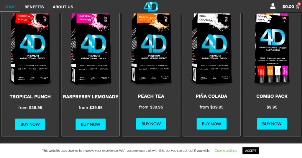 4D Premium Website