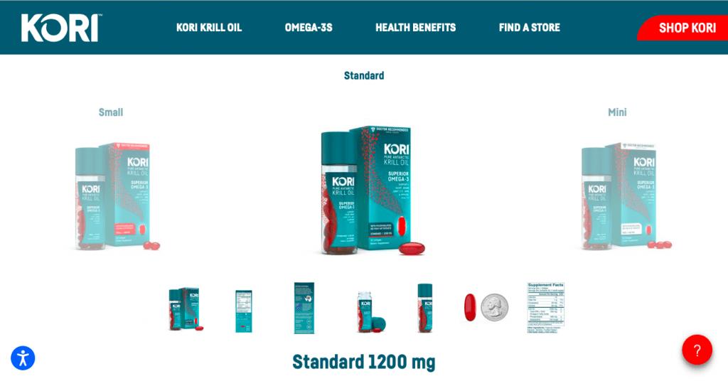 Kori Krill Oil Website