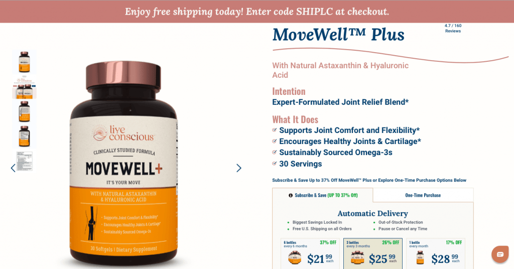 MoveWell Live Conscious Website