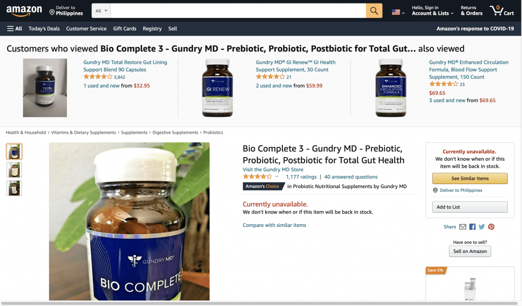 Gundry MD's Bio Complete 3 and Total Restore Reviews