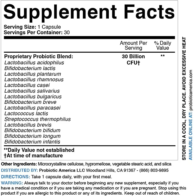 Perfect Biotics Supplement Facts