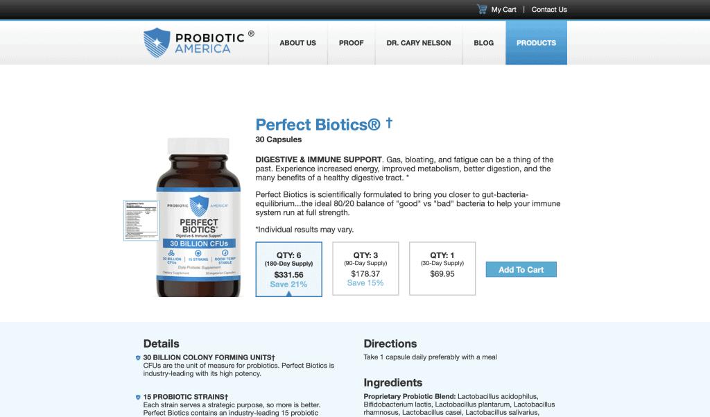 Probiotic America Website