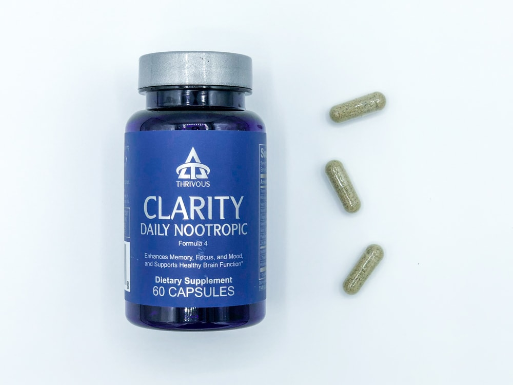 Thrivous Clarity Bottle And Pills
