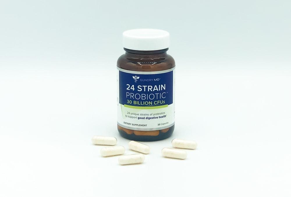 24 Strain Probiotic Bottle And Pills