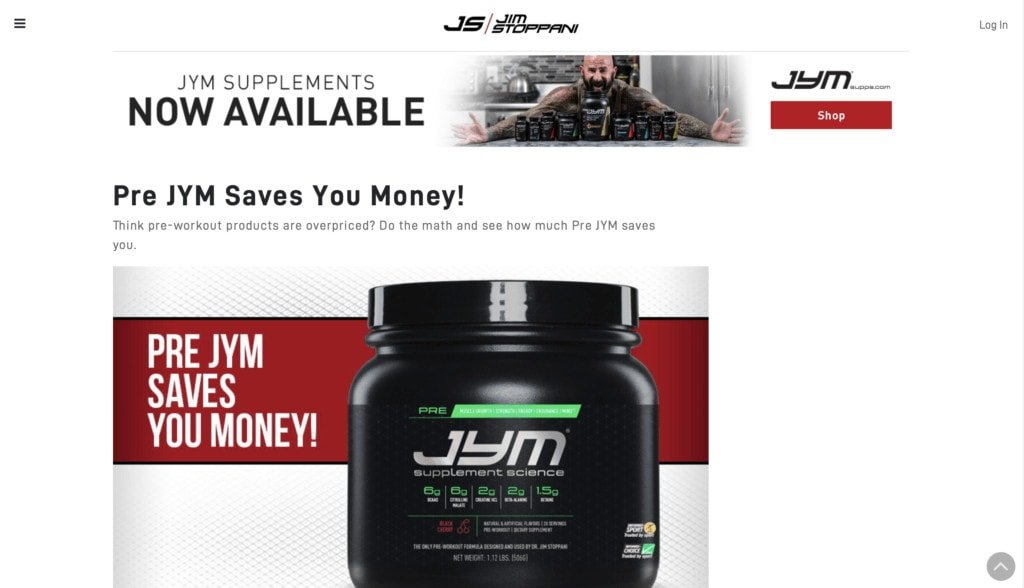 JYM Supplement Science Website