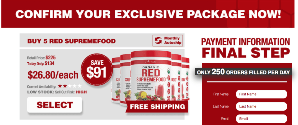 Organic Red Supremefood Website