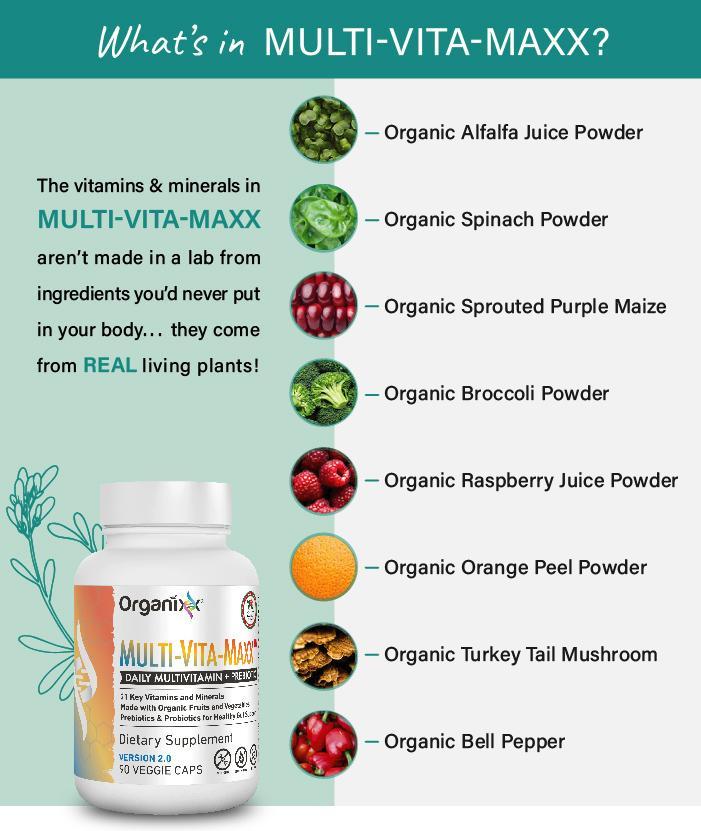 Organixx Multi-Vita-Maxx Ingredients