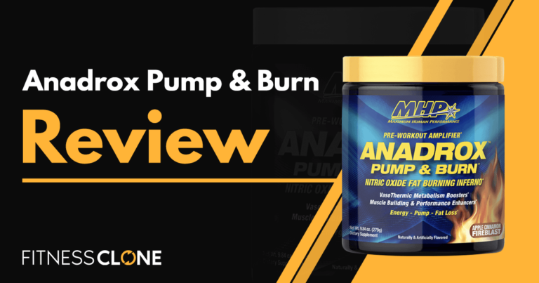 Anadrox Pump & Burn Review – Can This MHP Strong Pre-Workout Help Burn Fat?