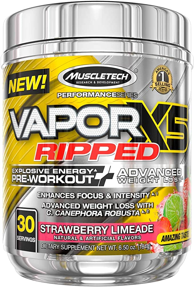 Best Thermogenic Pre-Workout Products-Muscle Tech Vapor 5X Ripped, from Iovate
