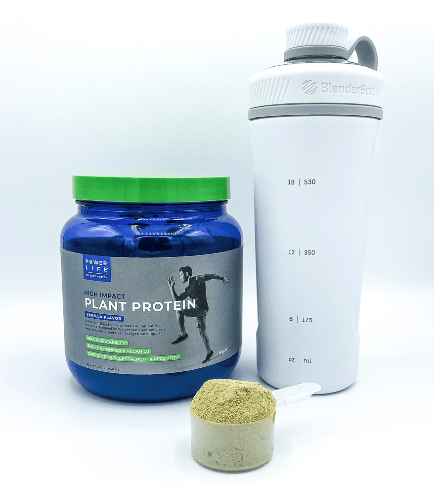 High Impact Plant Protein Powder And Shaker