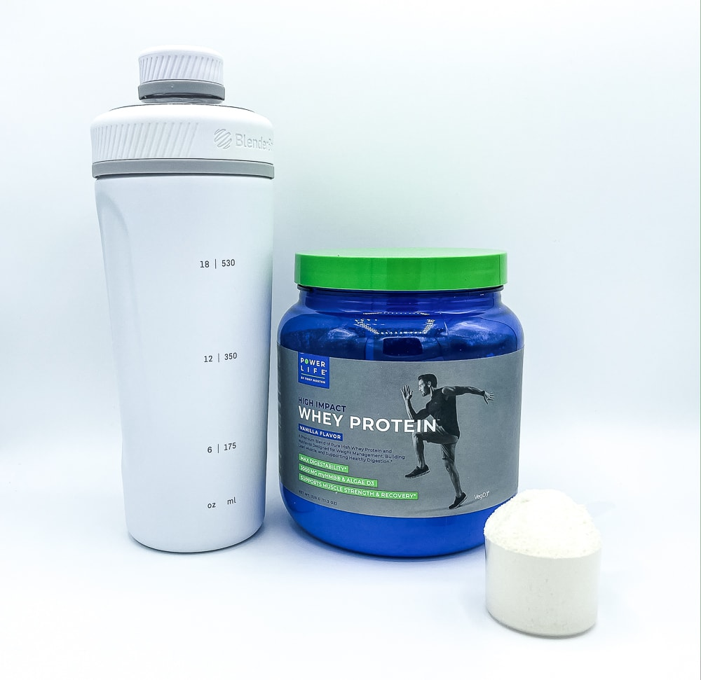 High Impact Whey Protein Powder And Shaker