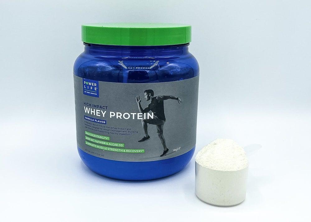 High Impact Whey Protein Supplement Bottle