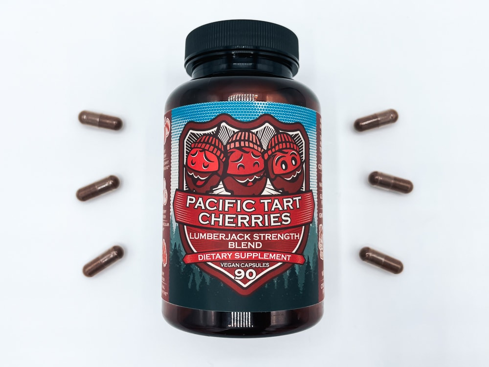 Hippie Farms Tart Cherry Bottle And Pills