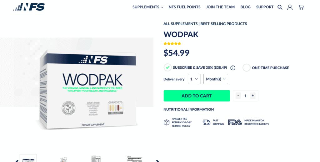 NFS WODPAK Website