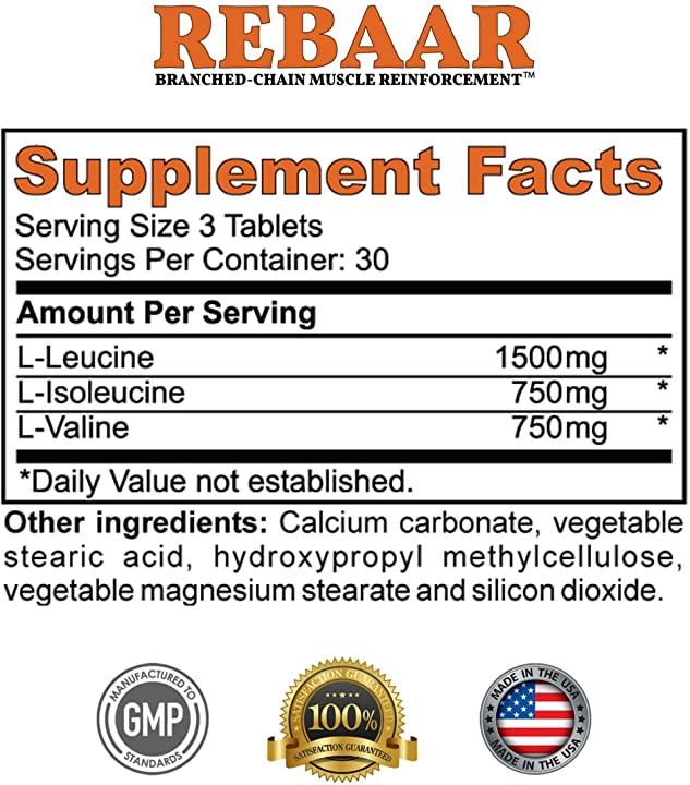 REBAAR Supplement Facts