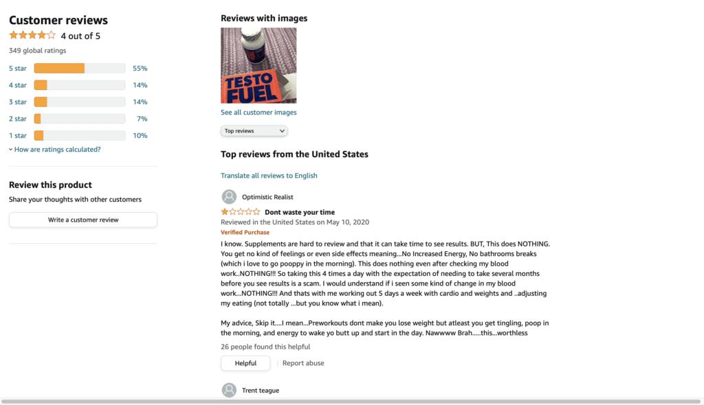 Testofuel customers review