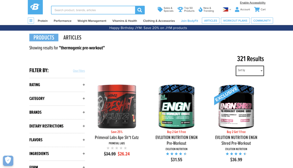 Thermogenic Pre-Workout-Bodybuilding.com