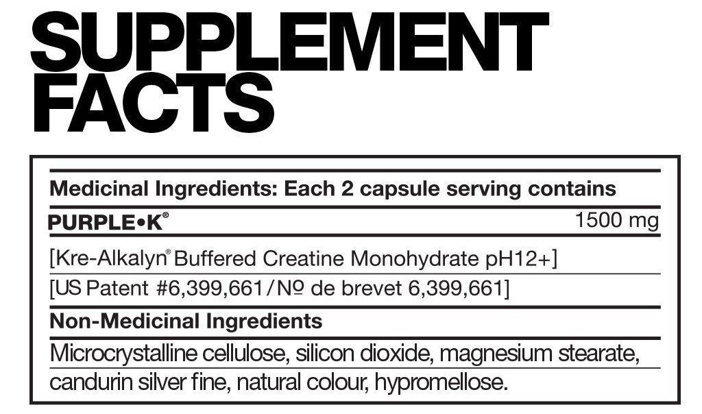 Fusion Purple-K Supplement Facts