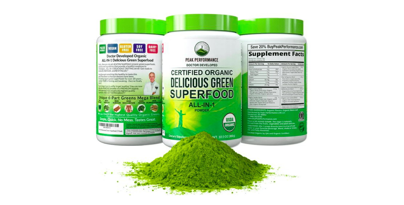 Delicious Green Superfood Review – How Does Peak Performance's Powder Compare?